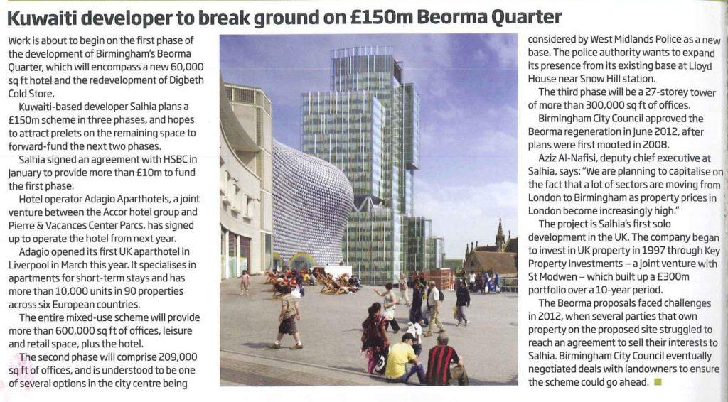 propertyweek article on Beorma